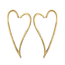 Fashion trendy  gold heart earrings for women earrings korean  wholesale N80904