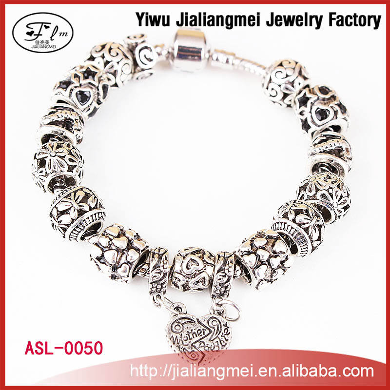 2015 Hot Wholesale Women Bead Bracelet, New Arrival Promotion Cheap Custom Charm Bracelet