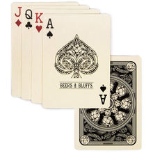 Transparent Clear Waterproof Plastic Poker Custom Pvc Printed Playing Card