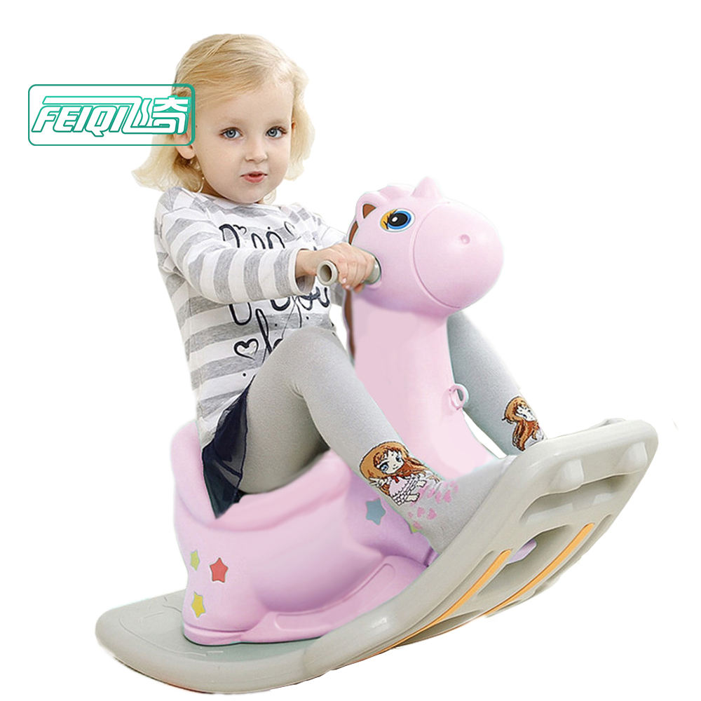 Cheap plush musical kids rocking horse toy for sale