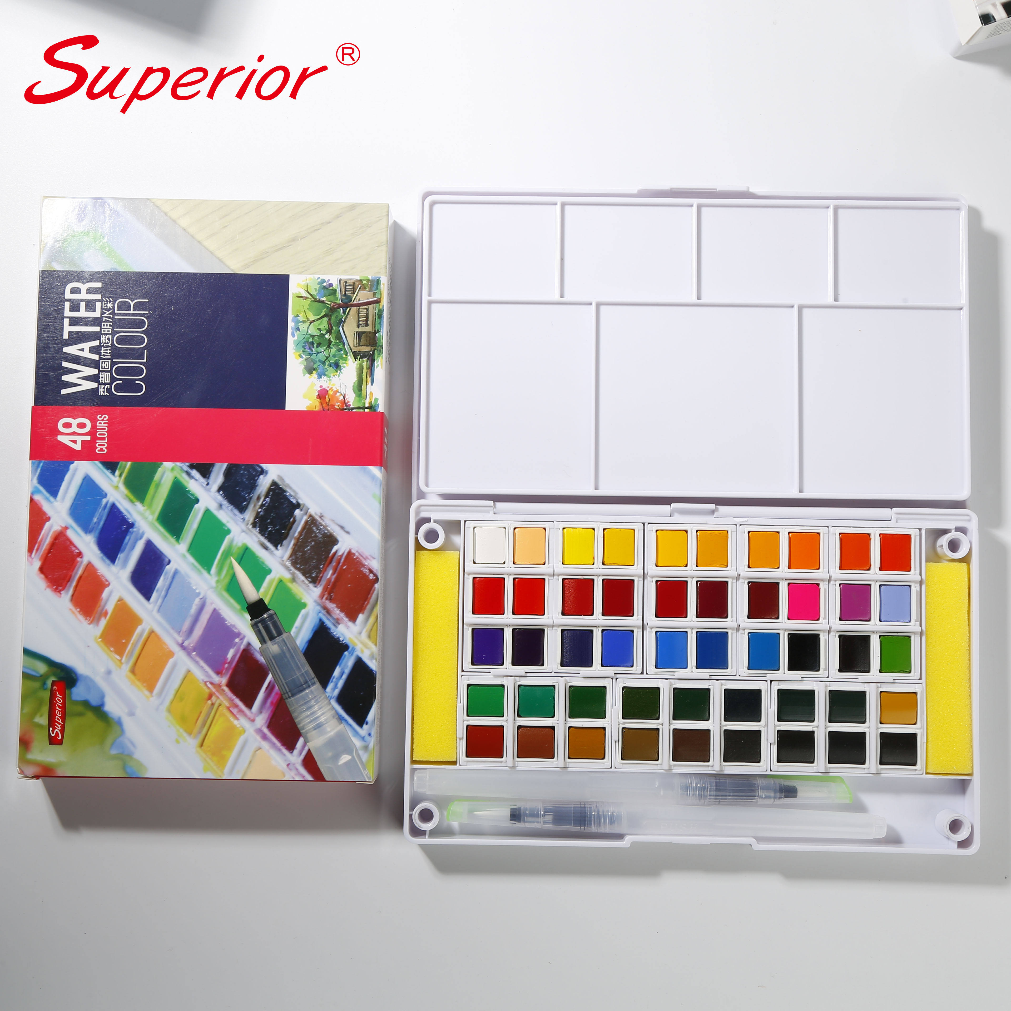 Superior solid water color paint watercolor for kids with non-toxic pigment