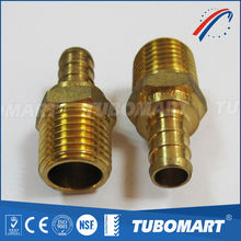 Ningbo supplier copper rings male adaptor coupling union crimp fitting for pex pipe