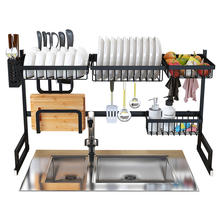 Dish Drainer Rack Holder Black Stainless Steel Kitchen Sink Rack
