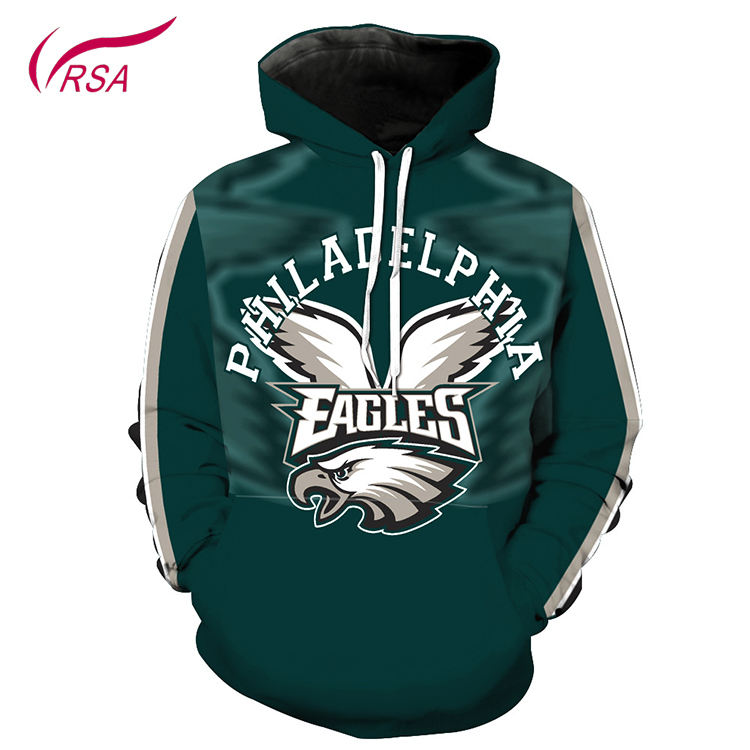 Fashion Men Hoodies Basketball Team Logo Green Hoodies Men Custom Pullover