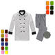 Best design wholesale long sleeve restaurant hotel kitchen red chefs jacket