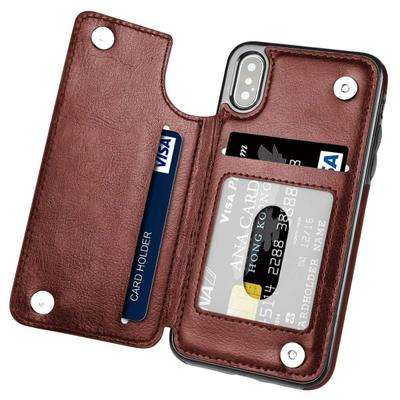 Retro Pu Flip Wallet Leather Case Voor Iphone 12 Pro Max Mini 11X6 6S 7 8 Plus xs Multi Kaarthouders Telefoon Gevallen