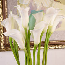 Wholesale Home Decor White Artificial Flower Real Touch Pu Calla Lily