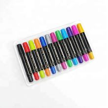 Promotional 12 Vivid Color Temporary Hair Chalk Stick Set, Non-Toxic Hair Chalk Pen For Kids Drawing on Hair