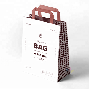 Dongguan Wholesale High Quality Fashion Custom Paper Bag With Brown Kraft Handle