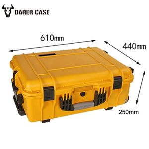 Shockproof waterproof Hard plastic carry case with foam