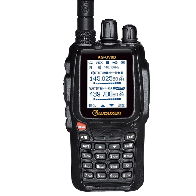 WOUXUN KG-8D Plus Dua <span class=keywords><strong>Cara</strong></span> <span class=keywords><strong>Radio</strong></span> Digital Dual Band Transceiver 999 Saluran Memori UHF/VHF HAM Walkie Talkie warna Layar <span class=keywords><strong>Radio</strong></span>