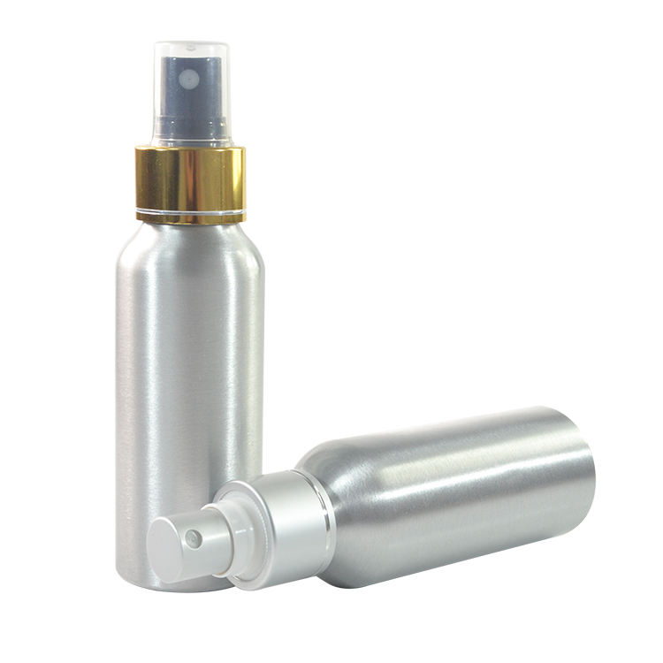 New product 30ml 50ml 100ml 120ml 150ml aluminum perfume spray bottle with aluminum silver line mist pump cap