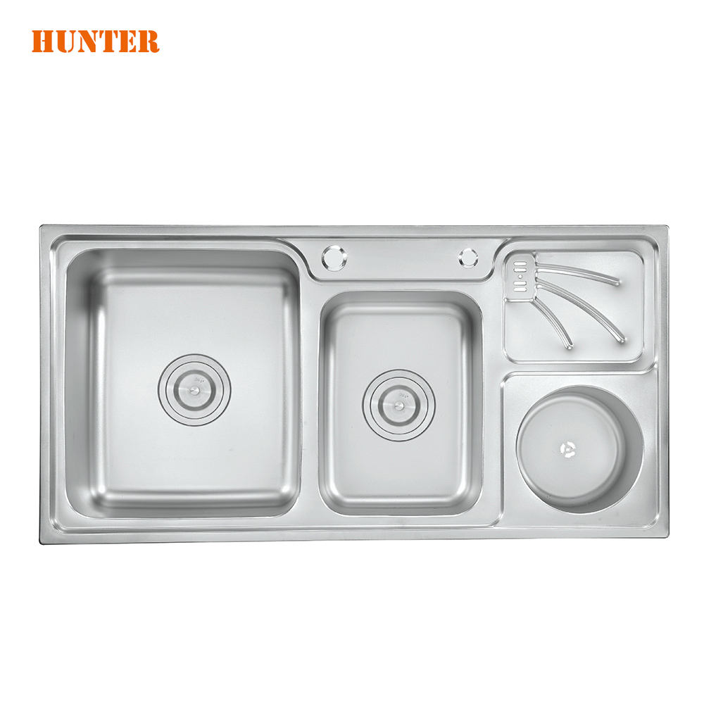 September Purchasing Festival Double Drainer Stainless Steel Built-in Kitchen Sink