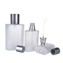 Factory priceoblate rectangle  glass spray 30ml 50ml 100ml clear glass perfume bottle