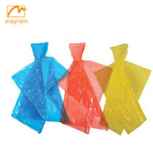 Promotional cheap emergency disposable PE raincoat rain poncho in balls for gifts wholesale