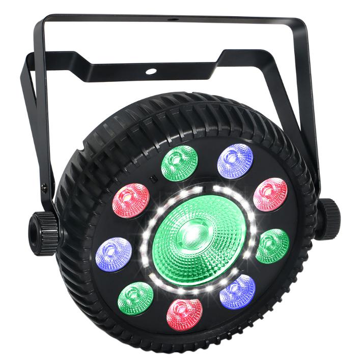 Multi-эффект RGBW + rgb удара + SMD стробоскопа пар может света с дистанционным управлением для освещения сцены DJ Party огни