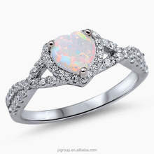 Eternity love Classic Opal Wedding Engagement Ring Sterling Silver Jewelry Manufacturer China