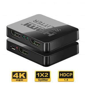 HDCP 4K HDMI Splitter 1X2 Full HD 1080P Video 1 Trong 2 Ra