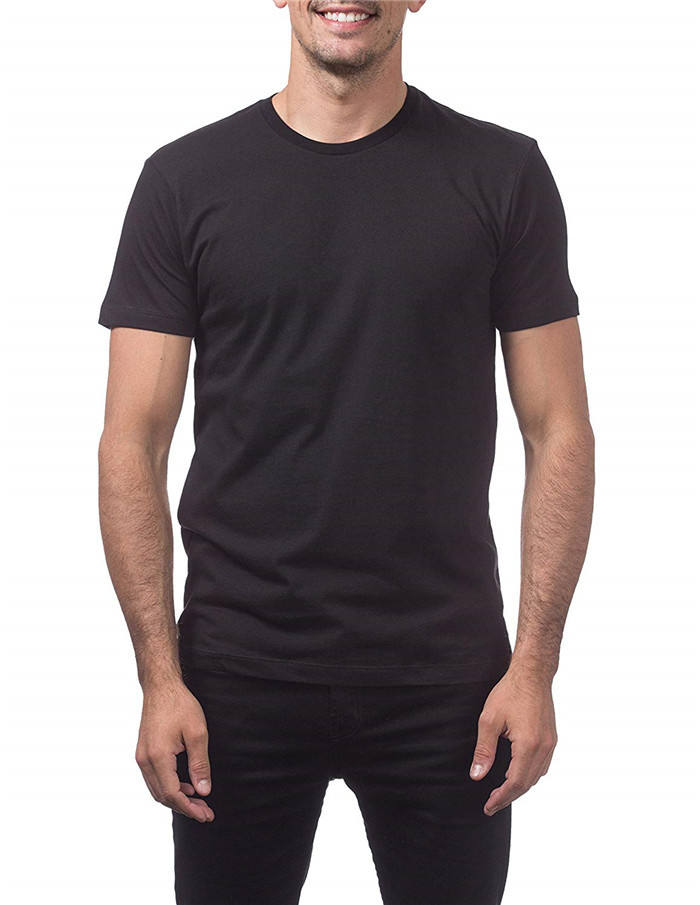 Mens Premium Ringspun cotton t shirts Short Sleeve T-Shirt 4.2 oz Soft Combed Ring-Spun tees custom