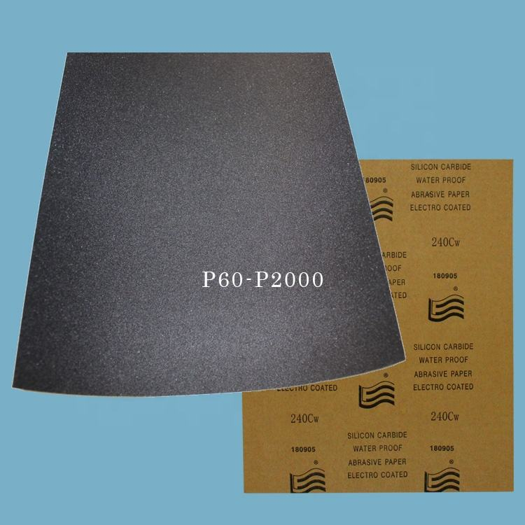 Water paint sandpaper 150 best quality waterproof sandpaper wet and dry sanding paper 800 wet sand paper automitive