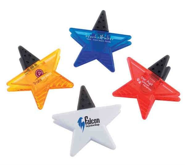 star shape plastic strong magnetic memo clip