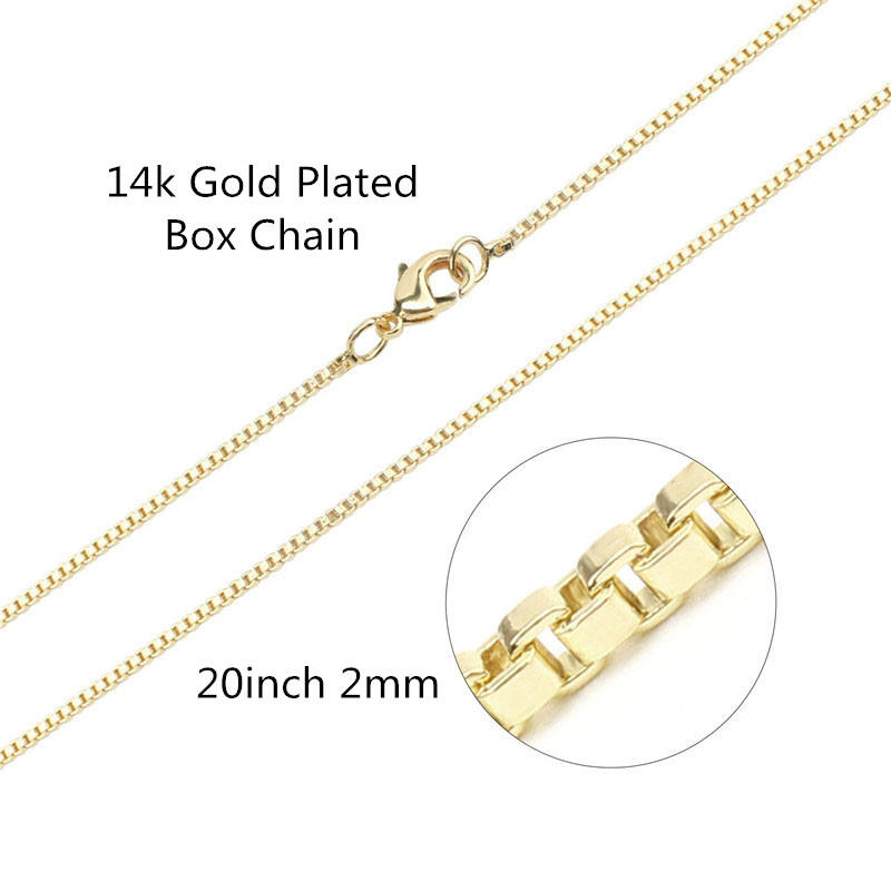 Wholesale14k Gold Plated Brass Box Chain Jewelry Chain Bulk for Craft