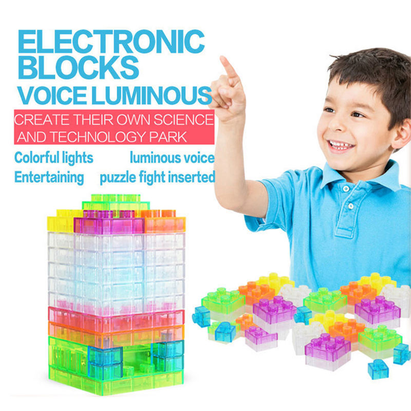 Sound control light electronic diy nano block in china