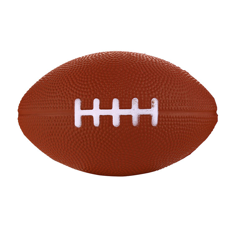 Professional made China factory custom logo imprinting american football pu stress ball