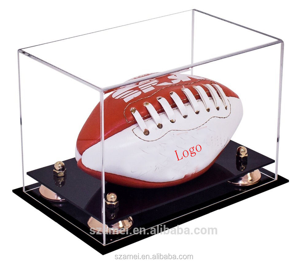 hot selling OEM service high quality fashionable acrylic football display boxes / racks for football fans
