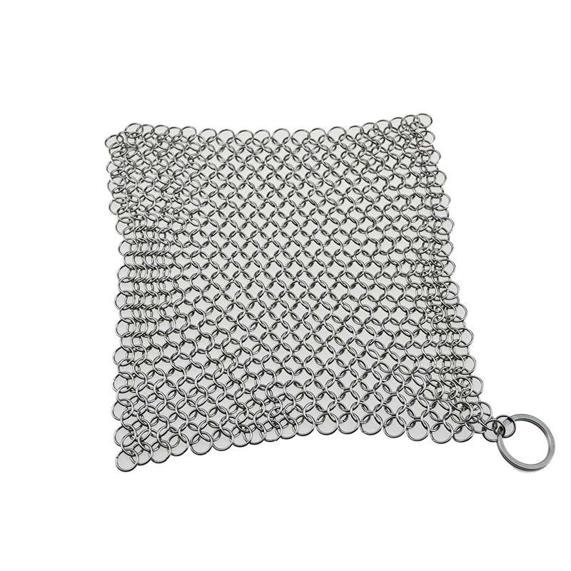 Manufacturer 316 Stainless Steel Chainmail Scrubber Cast Iron Cleaner Ring screen mesh