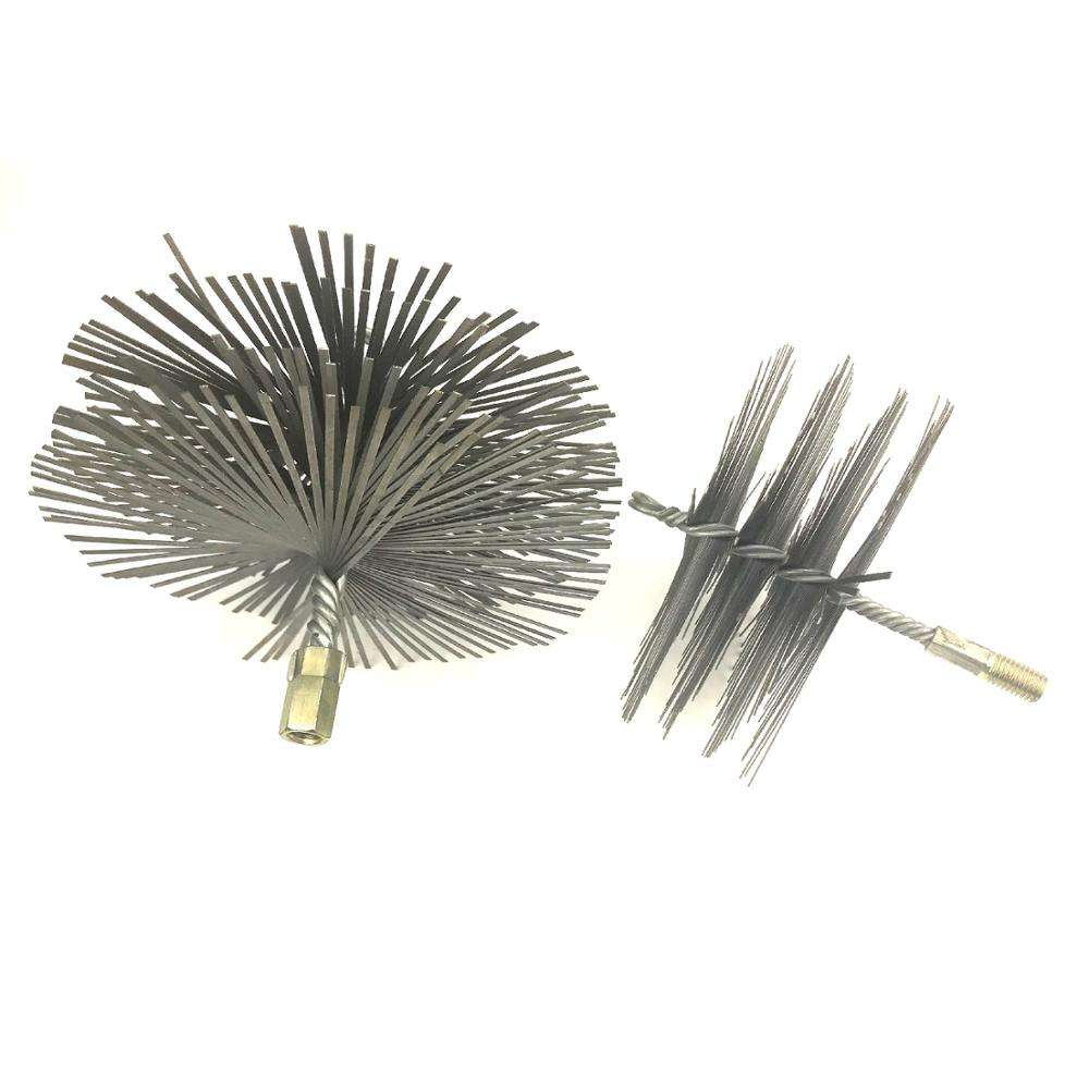 Flat steel wire round chimney brush