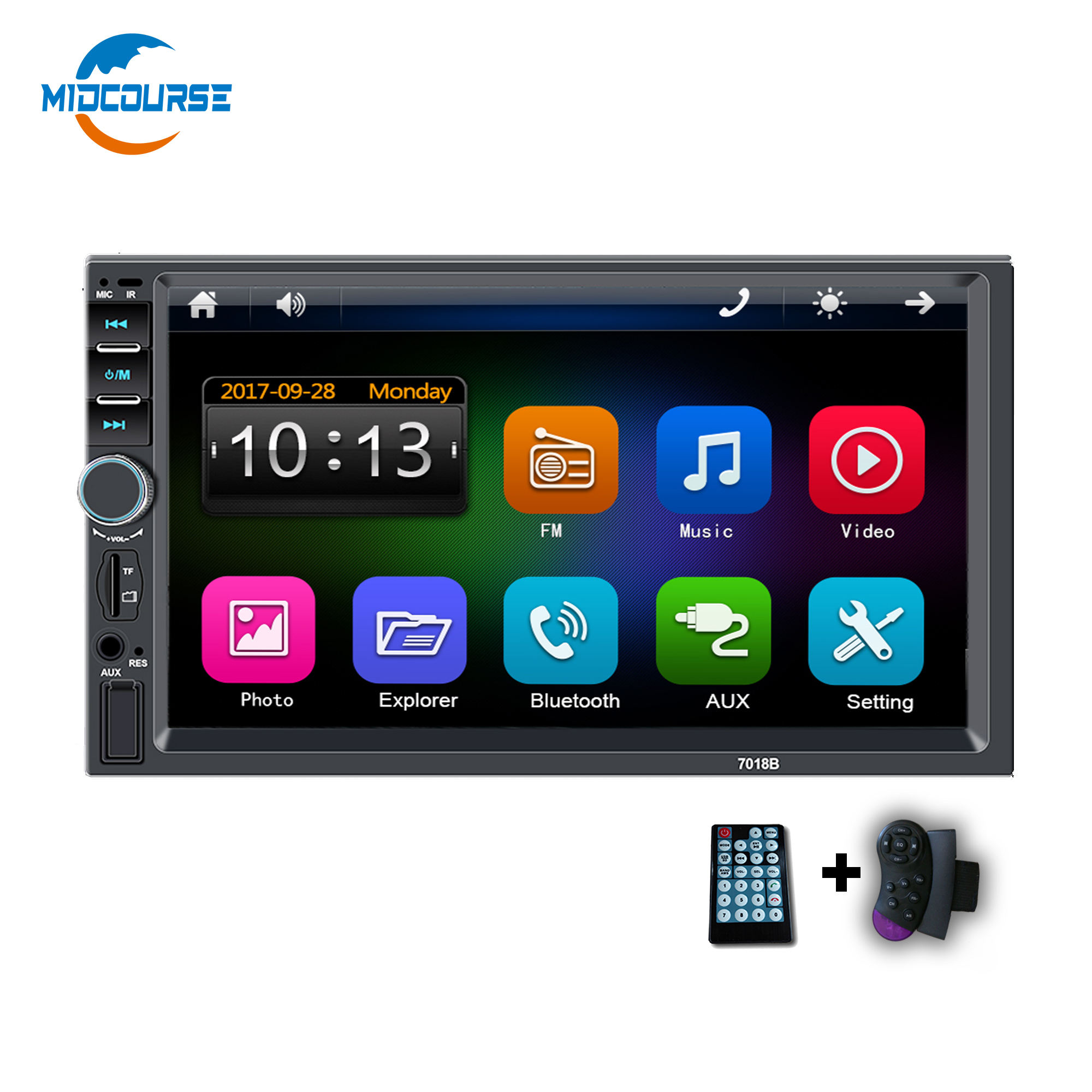 "Universal 2din Double Din 7"" CAR DVD RADIO STEREO AUDIO MP5 Multimedia PLAYER"