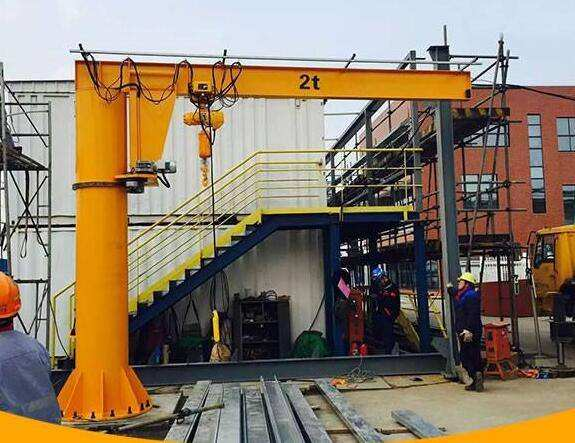 10t heavy duty pillar jib crane
