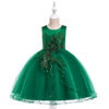 Latest Party Wear Fancy Birthday Cake Floral Girls Beautiful Sleeveless Dress for Baby Girl L5060