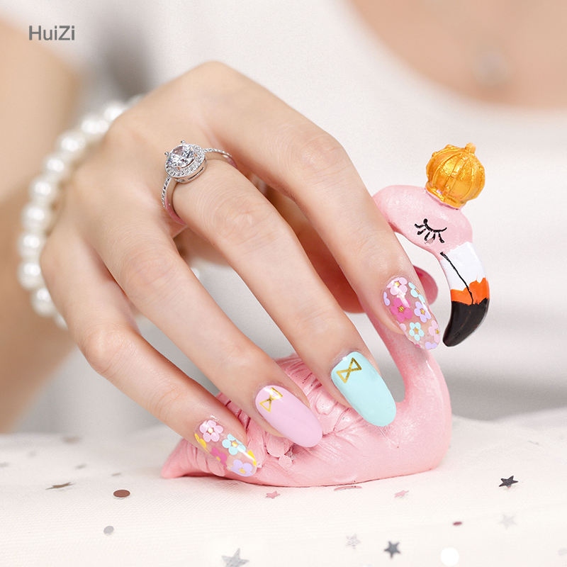 New products Manicure 3d colorful flower nail art stickers, designs pictures for wholesale