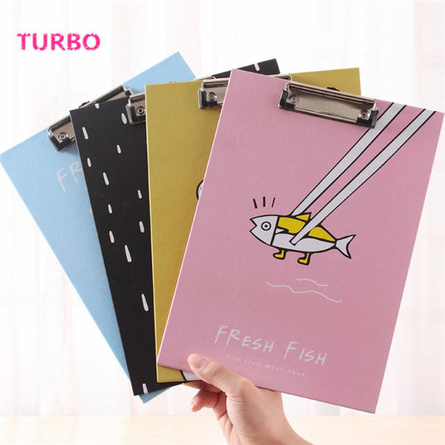 Korean stationery cartoon office supplies wholesale from china Latest top selling colorful A4 paper binder clip file folder