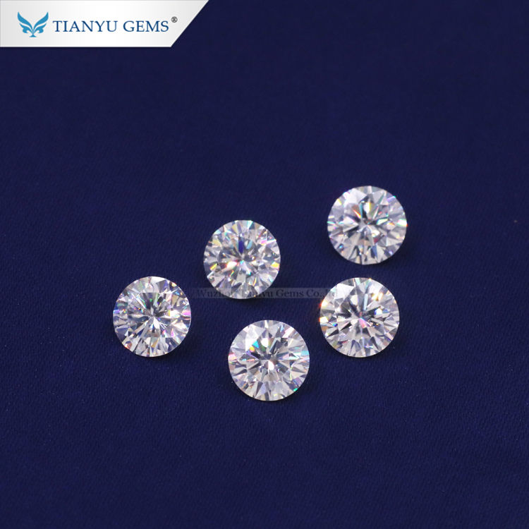 Tianyu Gems Lab Grown IGI Certified 6.5mm 1 carat Round Shape Well Polished HPHT/CVD Synthetic Loose Diamond
