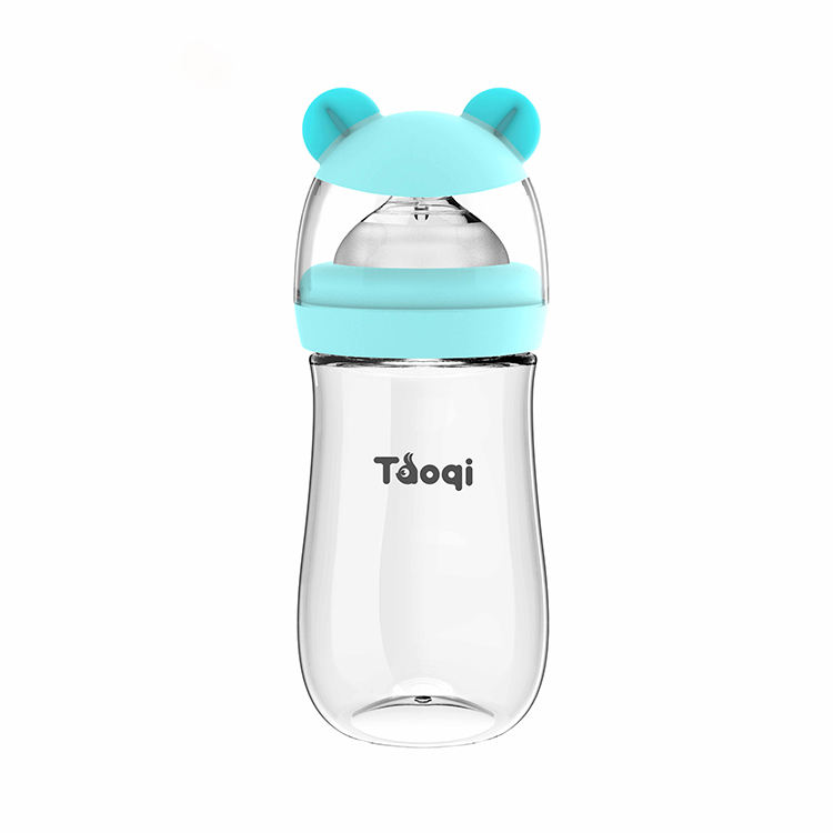 taoqi patent newly custom animal shape wide neck PP baby feeding bottle