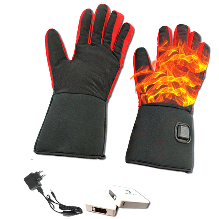electric ski gloves liner / rechargeable battery heated gloves