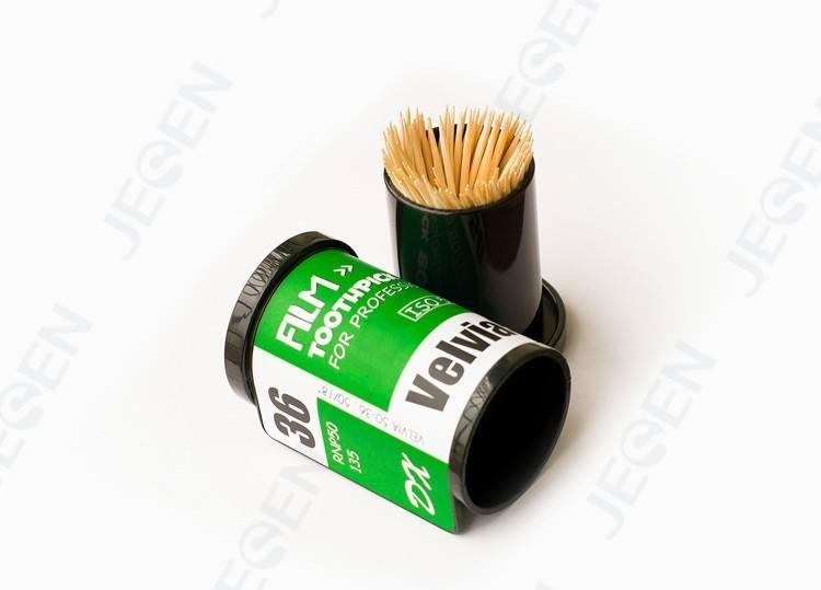 Прозрачный стиль зубочистка держатели, индивидуально упакованные зубочистка держатели, бамбук зубочистки