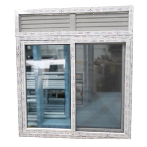 wanjia pvc reception sliding window glass and prices