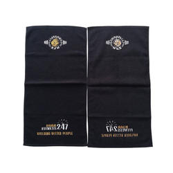 100% cotton custom sweat absorbent foldable sports towel wit
