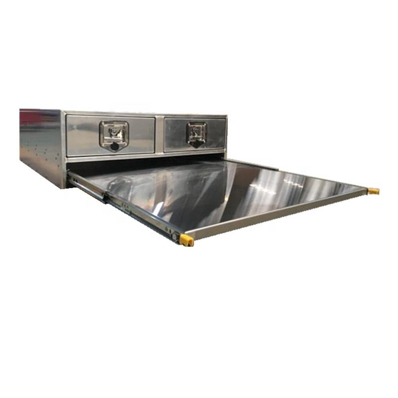Aluminium Canopy Cargo Drawer Pullout Bench Drawer