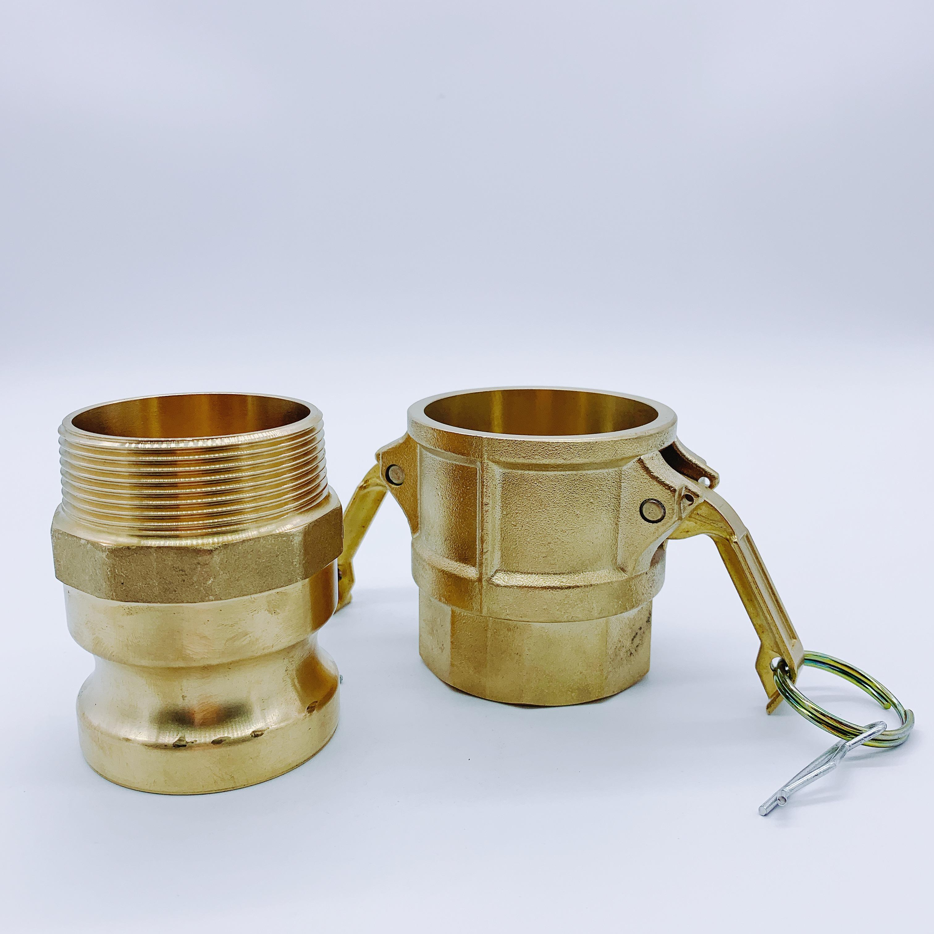 Wholesale brass camlock adapter coupling male type F + D