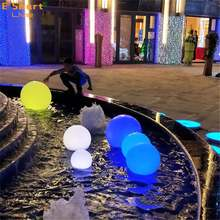 Illuminated Waterproof Led Solar Floating Glow Ball Lights For Swimming Pool Decoration
