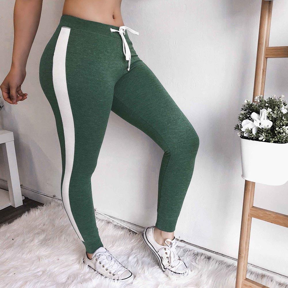 2019 New Sexy Women Fashion Slim Fit Striped Pants Yoga Running Pants Workout Leggings Fitness Gym Trousers Outdoor Leggings