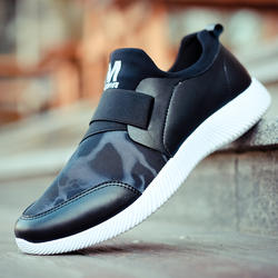 New arrivals men's fashion slip on pu sport shoes