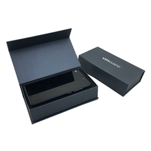 Custom design luxury cell phone cardboard packaging black paper package empty mobile phone box