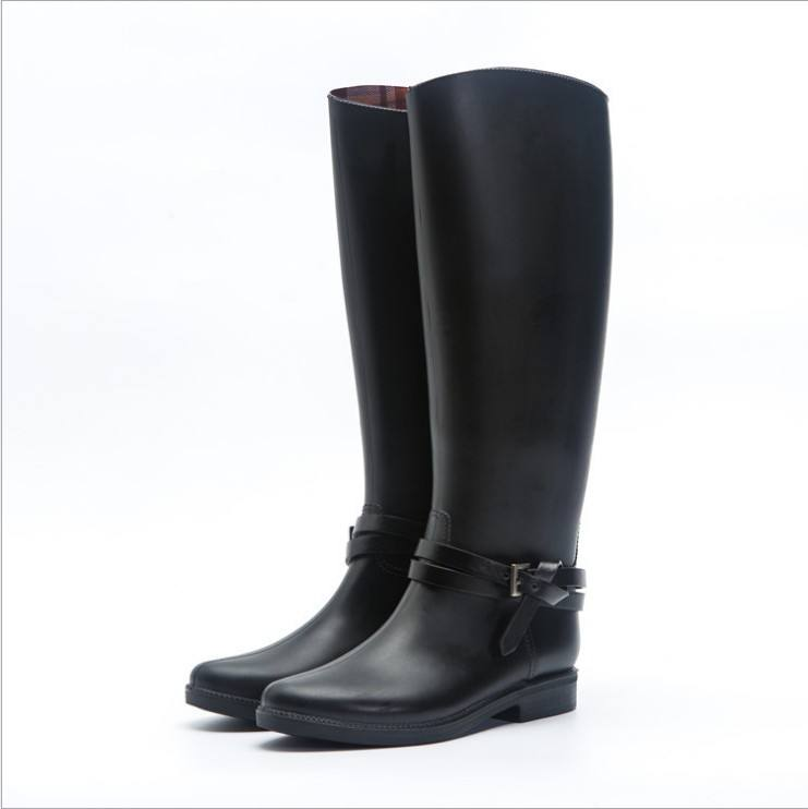 Women Knee High Wellington Boot Gumboot Waterproof Riding Boot PVC Woman Boot Women Shoes