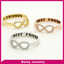 Best Quality Cheap stainless steel ring infinity of best of friends jewelry